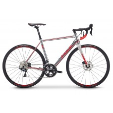 2019 - FUJI ROUBAIX 1.3 DISC - 56CM - POLISHED SILVER-RED