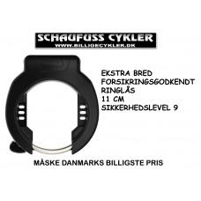 ABUS RINGLÅS 4750 XL EKSTRA BRED - 11CM BRED - SORT
