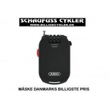 ABUS WIRELÅS 2502 COMBIFLEX - 85CM - SORT