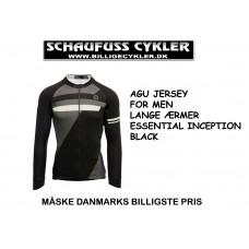 AGU JERSEY LANGE ÆRMER ESSENTIAL INCEPTION BLACK - XL - BLACK