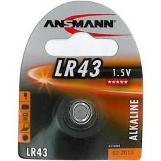 ANSMANN LR43 ALKALINE BATTERI 1,5V