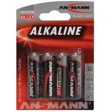 ANSMANN LR6 AA ALKALINE BATTERIER 1,5V 4 STK.