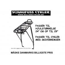 BAGAGEBÆRER TIL SKIVEBREMSE CYKLER 24