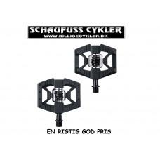 CRANKBROTHERS DOUBLE SHOT MTB PEDAL - SPD/FLATS - SORT