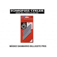 EGERREFLEKSER I PAKKE MED 8 STYK - 90MM - ORANGE