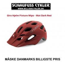 GIRO FIXTURE MIPS MAT DARK RED 54-61CM - 54-61CM - MAT DARK RED