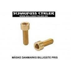 KCNC BOLTE TIL FLASKEHOLDER - 5 X 15MM - GULD