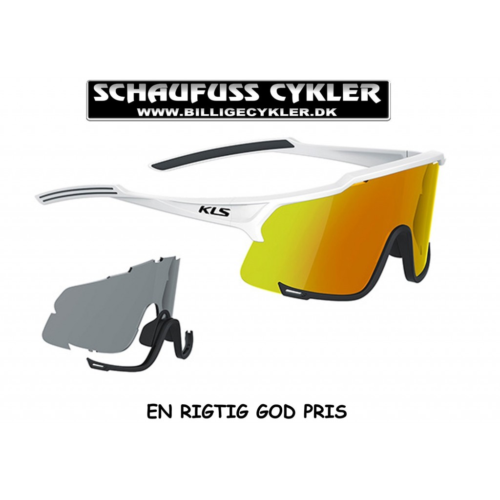 KLS DICE BRILLE PHOTOCROMIC - SHINY WHITE | cykelbrille
