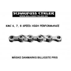 KMC X8 KÆDE 6 - 7 - 8 SPEED - 6,7,8 SPEED - SØLV