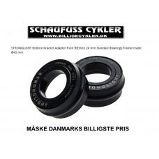 KRANKLEJER / ADAPTER FRA BB30 TIL  BSA 24MM - SORT