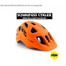 MET Helmet MTB Echo MIPS M/L 52-57CM Orange Mat - M/L 52-57CM - ORANGE