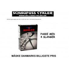 NOSLAR SLANGE 700×18-25 FV 48MM PAKKE MED 4 STYK - 700 X 18-25C FV - SORT