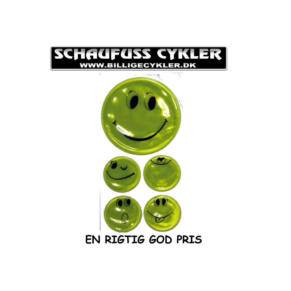 REFLEKSER MED SMILEY MOTIV GUL | refleks