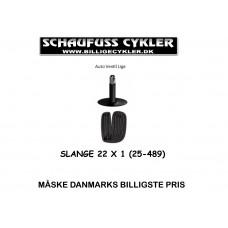 ROLKO KØRESTOLS SLANGE 22×1,0 AV 34MM