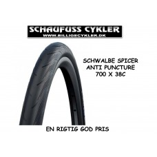 SCHWALBE DÆK SPICER 700 X 38C - 700 X 38C (40-622) - SORT