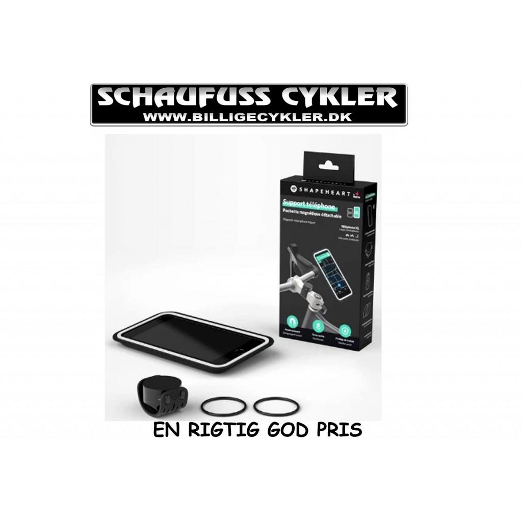 SHAPEHEART BIKE MOUNT TELEFONHOLDER - XXL - SORT   mobilholder og cover