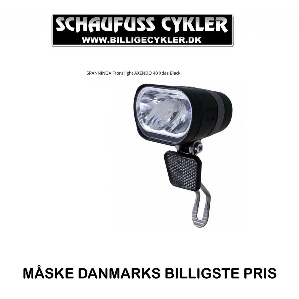 SPANNINGA ERGO XDOS 480LM DYNAMO / E-BIKE FORLYGTE | cykellygte