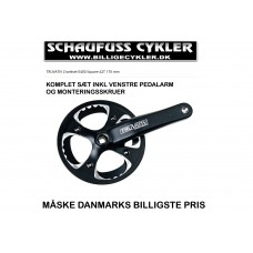 TRUVATIV CRANKSET E400 FIRKANT 42T 170MM - FIRKANTAKSEL - SORT