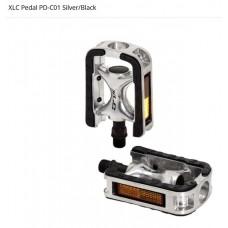XLC PD-C01 PEDALER TIL MTB / HYBRID ELLER CITY - SILVER-BLACK