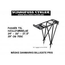XLC RP-R04 BAGAGEBÆRER ALU SORT 24-29